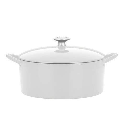 mario batali enameled cast iron mini dutch oven  cup white cutlery