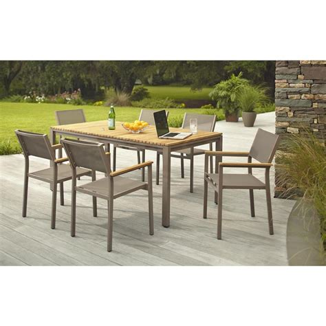 Hton Bay Barnsdale Teak 7 Piece Patio Dining Set Shop
