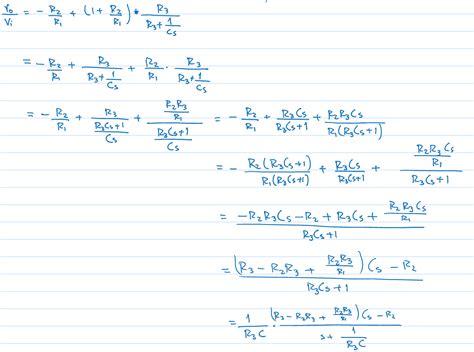 Capacitor Analyzing Amp Circuit Transfer Function