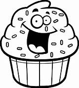 Cupcake Outline Cartoon Coloring Cupcakes Clipart Clip Amazing Clipartmag Wecoloringpage Gclipart источник sketch template