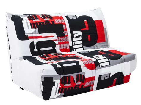 canapé lit bz conforama banquette bz en tissu elea coloris vente de