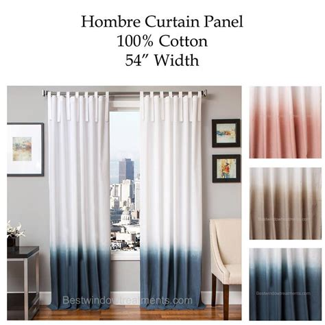 hombre gradient two tone curtain drapery panels www