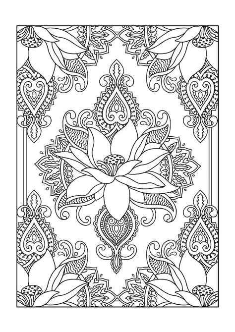 Coloring Books by Colouring Books Free Printable A4 Size Lotus Flower