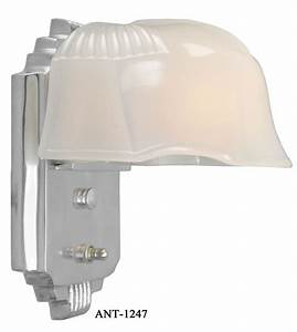Vintage hardware lighting art deco streamline wall for Kitchen cabinets lowes with art nouveau wall sconce