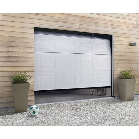 porte de garage sectionnelle hormann h 200 x l 240 cm leroy merlin