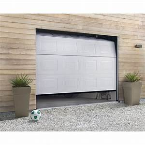 Porte de garage sectionnelle hormann h200 x l240 cm for Porte de garage sectionnelle hormann leroy merlin