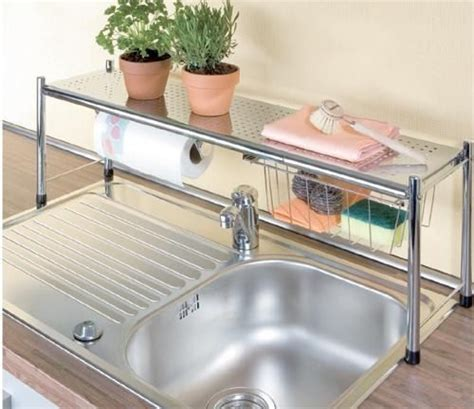 sink shelves kitchen get an the sink shelf to up on counter space 2276