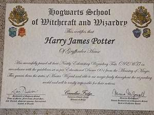Harry potter personalised hogwarts certificate diploma report ebay for Hogwarts certificate