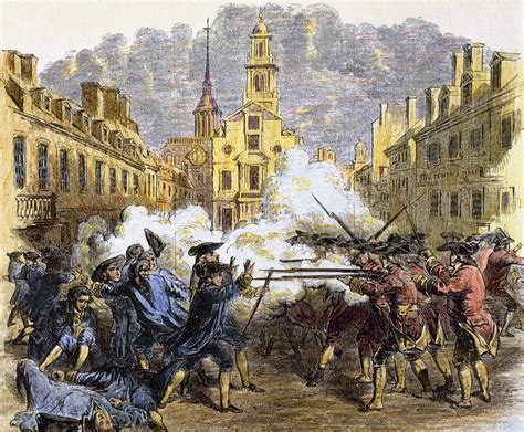 Boston Massacre by On This Day In 1770 Civilians And Soldiers Clash In The