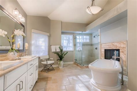master bath renovation in woodland hills ca classique chic salle de bain los angeles