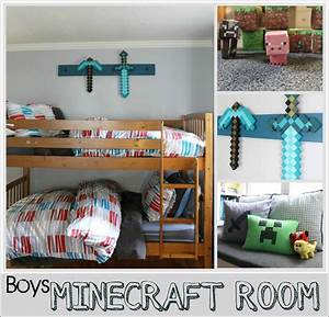 Boys Minecraft Bedroom - The Wicker House
