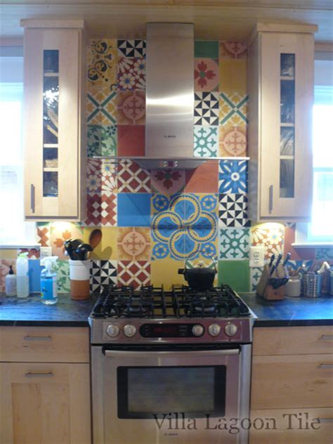 colorful patchwork cement tile  stock villa lagoon tile