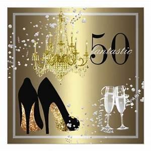 Woman's 50th Birthday Celebration Invitation   Zazzle.com ...