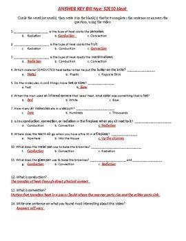 bill nye s2e10 heat thermal energy sheet with answer key