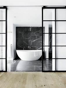 les 25 meilleures idees de la categorie porte de baignoire With porte d entrée alu avec salle bain marbre