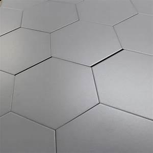 Carrelage Mural Hexagonal : carrelage hexagonal gris basique sol et mur parquet carrelage ~ Carolinahurricanesstore.com Idées de Décoration