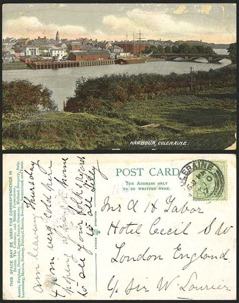 Ebay Boats Northern Ireland by Londonderry 1907 Postcard Coleraine Harbour Ship Bridge