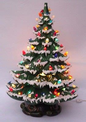 21 atantic mold flocked ceramic christmas tree vintage large 23 ceramic tree snow flocked lighted atlantic mold what s it worth