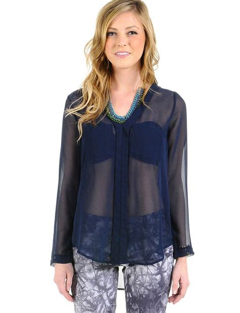 navy tops website psd images navy blue sheer blouses