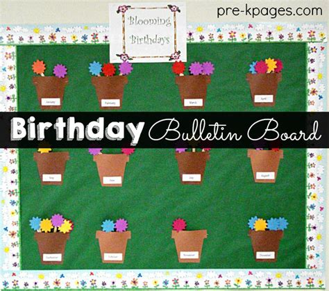 birthday bulletin board ideas for preschool celebrating student birthdays in preschool pre k and 785