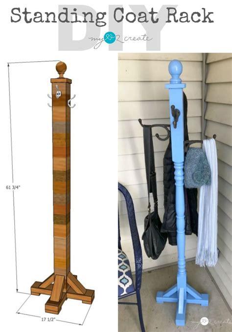 standing coat rack diy home projects diy coat rack