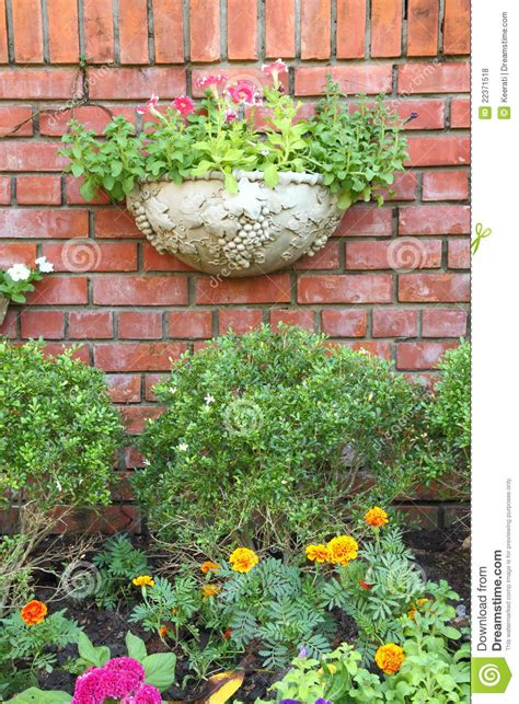 Garden Decoration Free by Garden Decoration Brick Wall Stock Photo Image 22371518