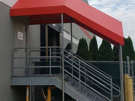entrance canopy  stairs   commercial building kreiders canvas service