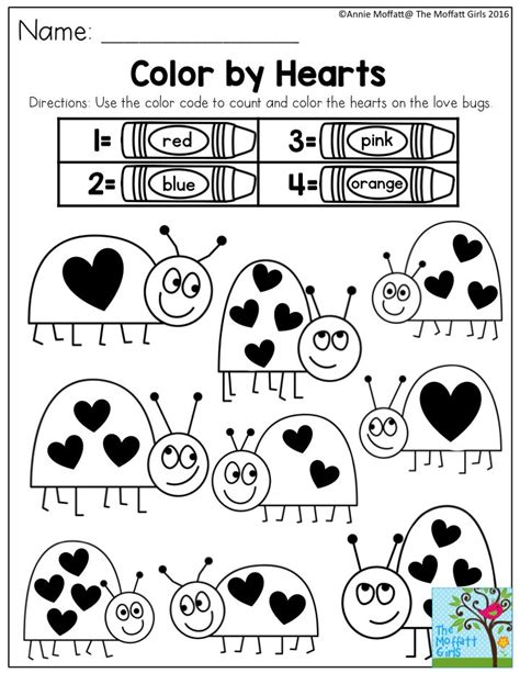color by hearts simple activities to build confidence and 461 | 445776fca4a5f4f3c40e31aff00b3745 preschool homework printables valentines day activities for preschool