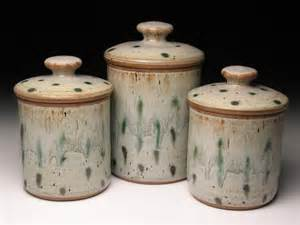 pottery canister set wheel thrown pottery canisters ceramic - Stoneware Kitchen Canisters