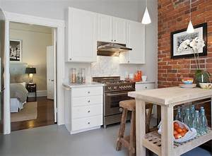 exposed brick wall contemporary kitchen tamara mack With what kind of paint to use on kitchen cabinets for loft wall art