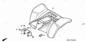 Honda Atv 2003 Oem Parts Diagram For Rear Fender