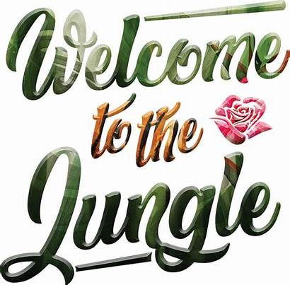 Jungle Welcome Vinilo Quotes Clipart Tenvinilo Guns