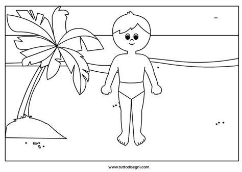 disegni bimbi al mare da colorare bambino al mare disegno da colorare tuttodisegni