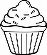 Coloring Cupcake Pages Simple Drawing Cool Boys Template Easy Printable Clipart Cupcakes Fun Outline Sheets Wecoloringpage Birthday Paper Ice Cream sketch template