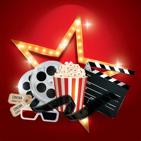 cinema background   objects vector image