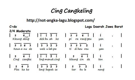 soleram not angka not angka lagu cing cangkeling kumpulan not angka lagu