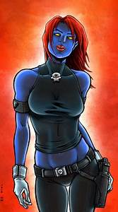 How Mystique became blue and naked