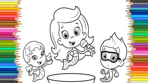 Bubble Guppies Molly Coloring Pages - Costumepartyrun
