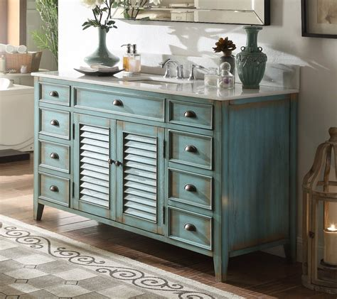 distressed blue single sink abbeville bathroom sink