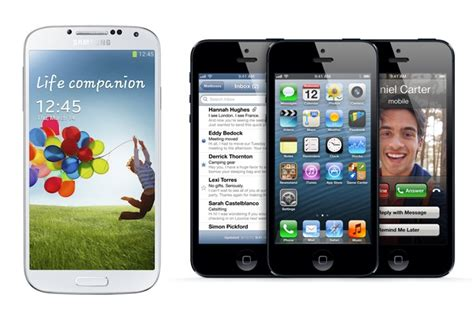 samsung galaxy s4 vs iphone 5 samsung galaxy s4 vs iphone 5 and others specs compared