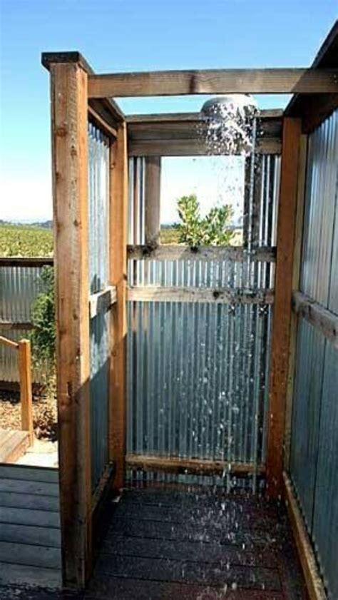 diy outdoor shower design  build   outdoor