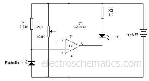 photodiode light detector circuit light sensor circuit