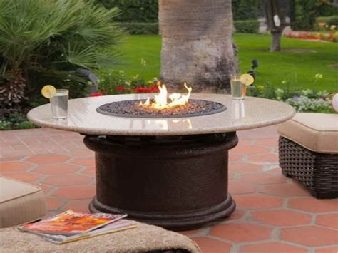 propane fire table glass round propane fire pit table fire pit ideas