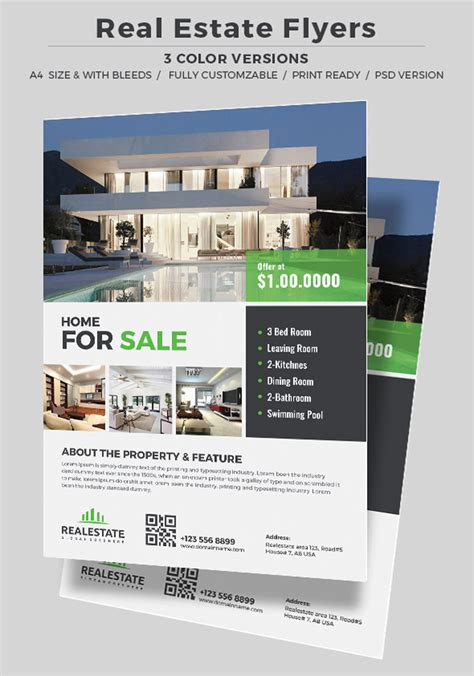 real estate template 40 professional real estate flyer templates