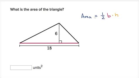 How To Area Of A Triangle Exle Finding Area Of Triangle Youtube