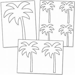 Printable Palm Tree Template from PrintableTreats.com ...