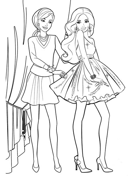 barbie coloring pages 2 jpg mcoloring pinterest kids