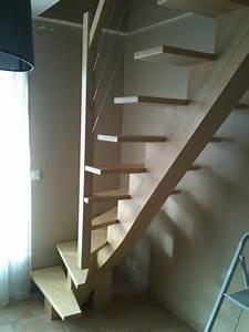 Fabriquer Son Escalier : fabriquer un escalier en bois quart tournant ~ Premium-room.com Idées de Décoration