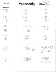properties  rational exponents homework answer key