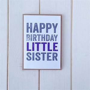 happy birthday little sister greetings card by do you ...